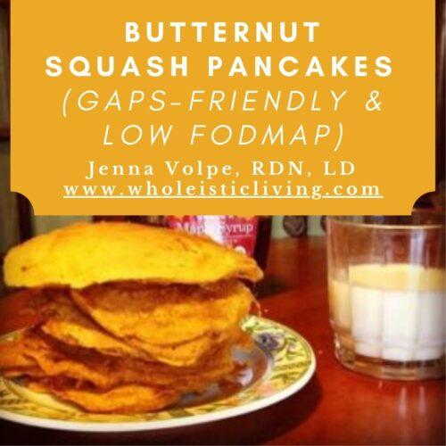 Butternut squash pancakes (GAPS and Low FODMAP)