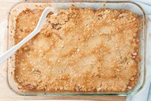 fresh homemade baked apple crisp