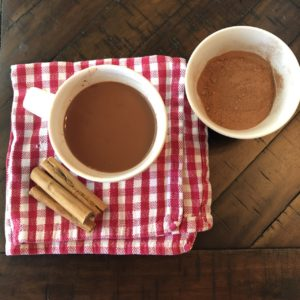 hot chocolate with cacao powder