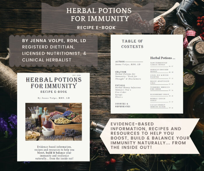 Herbal Potions for Immunity Recipe E-Book
