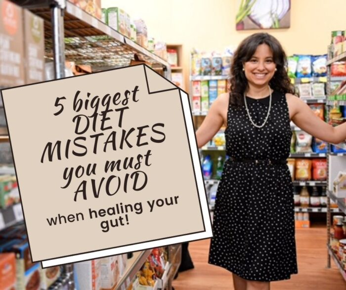 5 biggest diet mistakes people make when healing their gut - Jenna Volpe dietitian landing page link