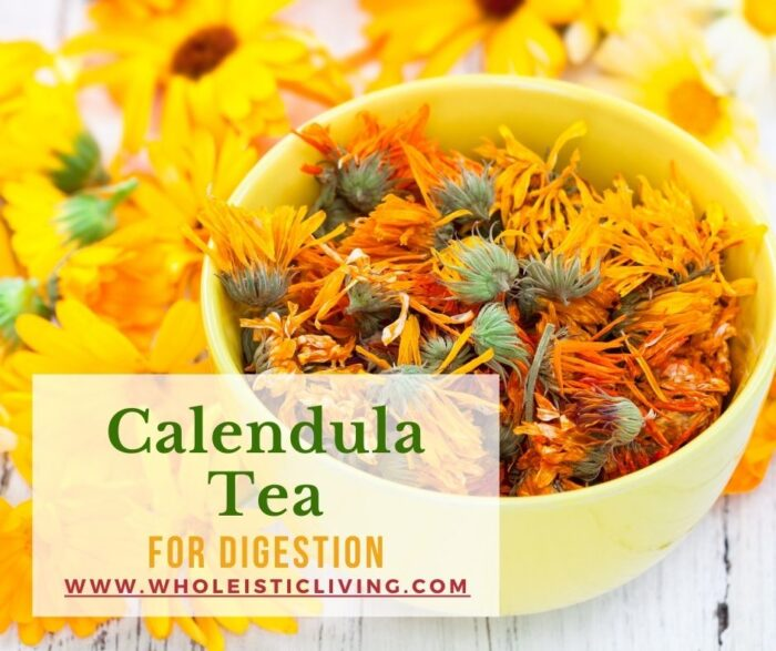 Calendula tea for digestion