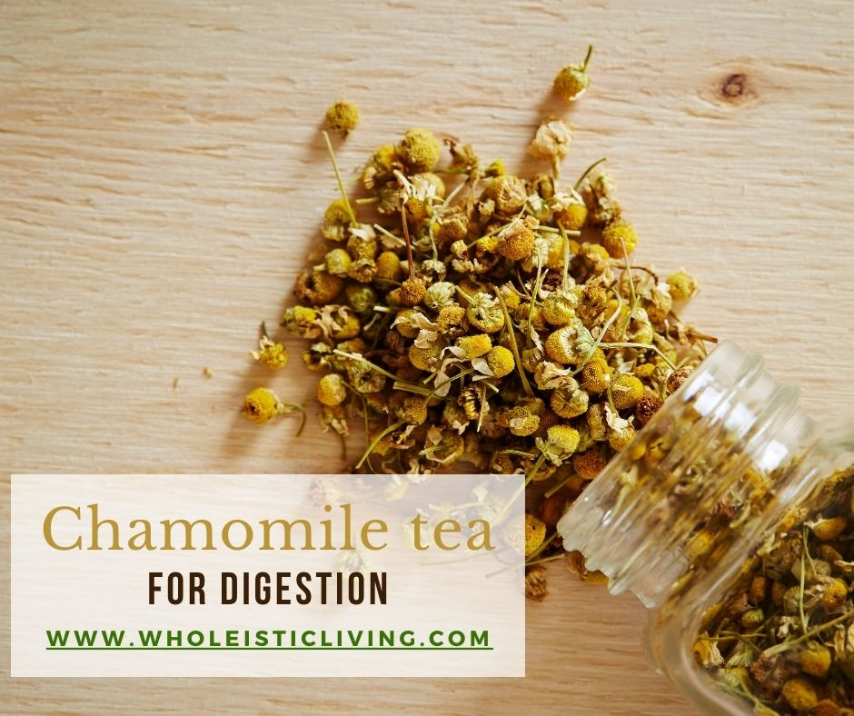 Chamomile tea for digestion