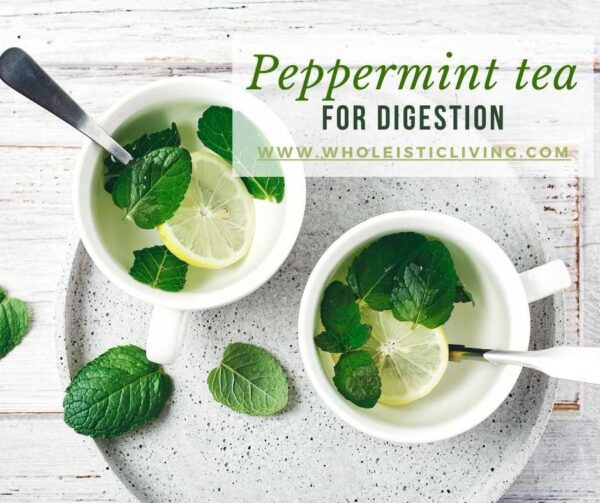 Peppermint tea for digestion