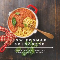 Low FODMAP Bolognese