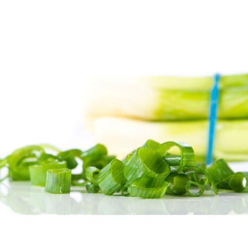 Scallions for low FODMAP potato salad