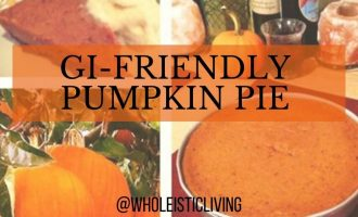 Low FODMAP Pumpkin Pie with Pecan Crust